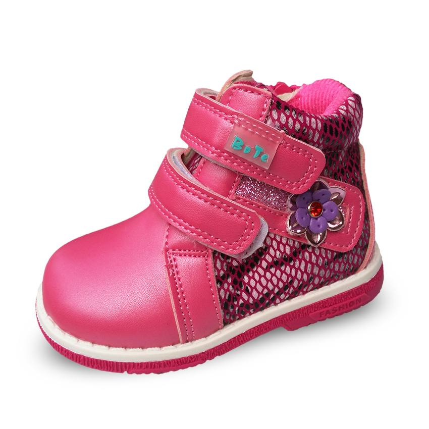 Super quality 1pair Fashion BOOT Sport Shoes,Brand Children Sneakers, Kids girl shoes,white&hot pink casual shoes