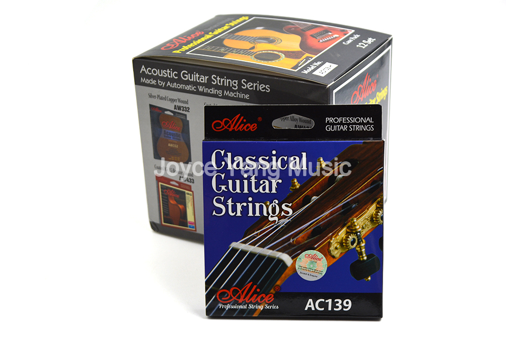12 Sets of Alice AC139 N H Classical Guitar Strings Titanium Nylon Strings Silver Plated 85