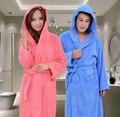 Банный халат с капюшоном из 100% хлопка для мужчин и женщин, легко впитывает влагу.