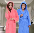 Hooded Toweled bathrobes cotton men robe autumn and winter waste-absorbing thick soft bathrobe