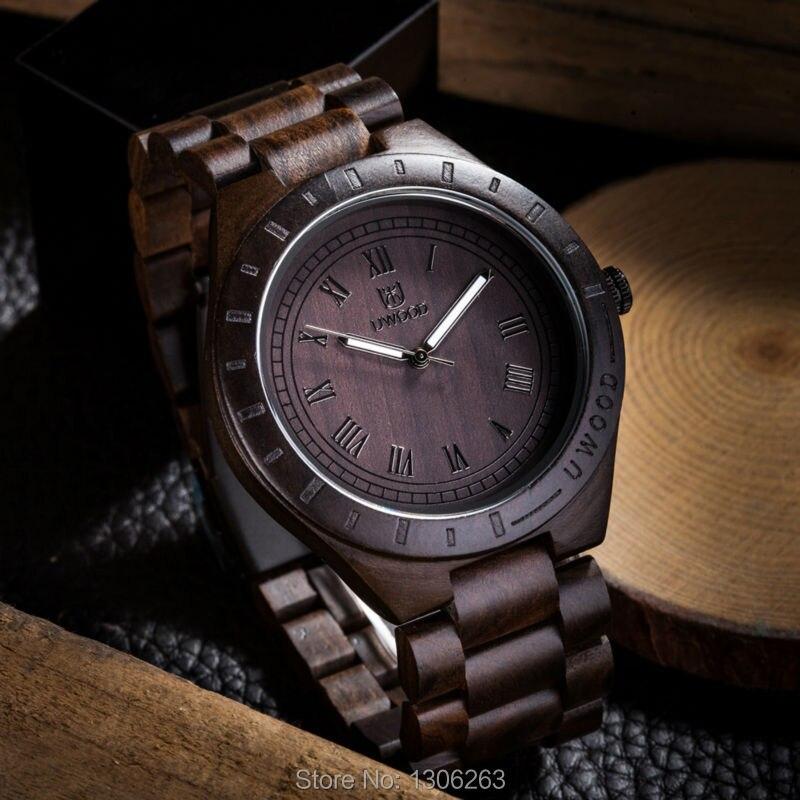 2016 New Man Wooden font b Watch b font Brand Quartz font b Watch b font