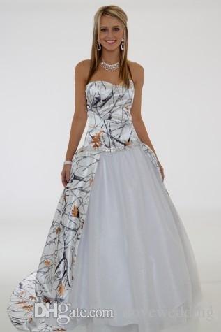 Белый Камо Свадебные Платья Бальное платье 2016 Милая Камуфляж Свадебные Платья Свадебное Платье Vestido Де Noiva Халат Де Mariage WM10