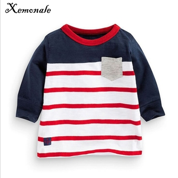Xemonale Boys Long Sleeve Tops 2018 Brand Autumn Clothing Baby Boy Sweatshirts Striped Children T shirts for Kids Boys Clothes