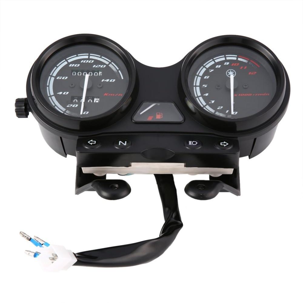 אוניברסלי אופנוע שחור LED אור מד מרחק + Tachometer מד מהירות מד עבור YBR125 for-YAMAHA-JYM125