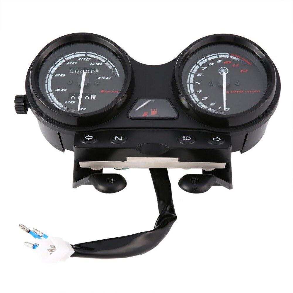 Universal Motorcycle Black LED Light Odometer + Tachometer Speedometer Gauge for YBR125 for-YAMAHA-JYM125