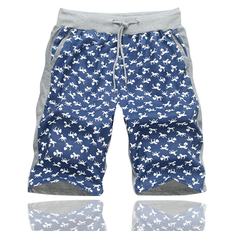2015 new network explosion Mens short AB double sided printed ...