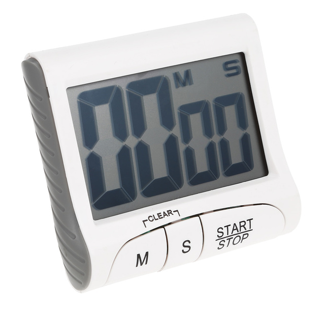 Digital Kitchen Timers Solid Wood Island Lcd Timer Alarm Clock Cooking Count Up Countdown Magnet Temporizador Cocina Stopwatch
