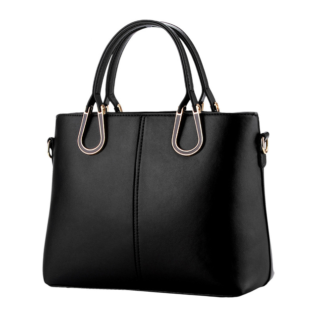 Las Office Work Tote Handbag Black Sfg House 2017 Fashion Pu Leather Shoulder Bag Handbags Vintage