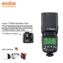 Godox TT685N tt685 Speedlite Flash High Speed 1/8000s GN60 +X1t-N Transmitter Trigger Fully Support TTL For Nikon Camera
