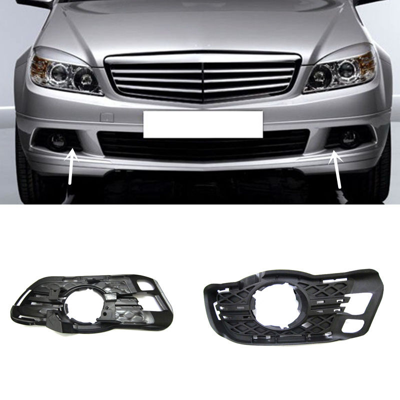 1set For <font><b>Benz</b></font> <font><b>W204</b></font> C180 C200 C230 C280 2008-2010 Fog Lamp ABS <font><b>Grille</b></font> cover image