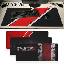 MaiYaCa  Mass Effect N7 Game Logo Rubber Pad to Mouse Game Anime Cartoon Print Large Size Game Mouse Pad Keyboard Mat Desk Mat