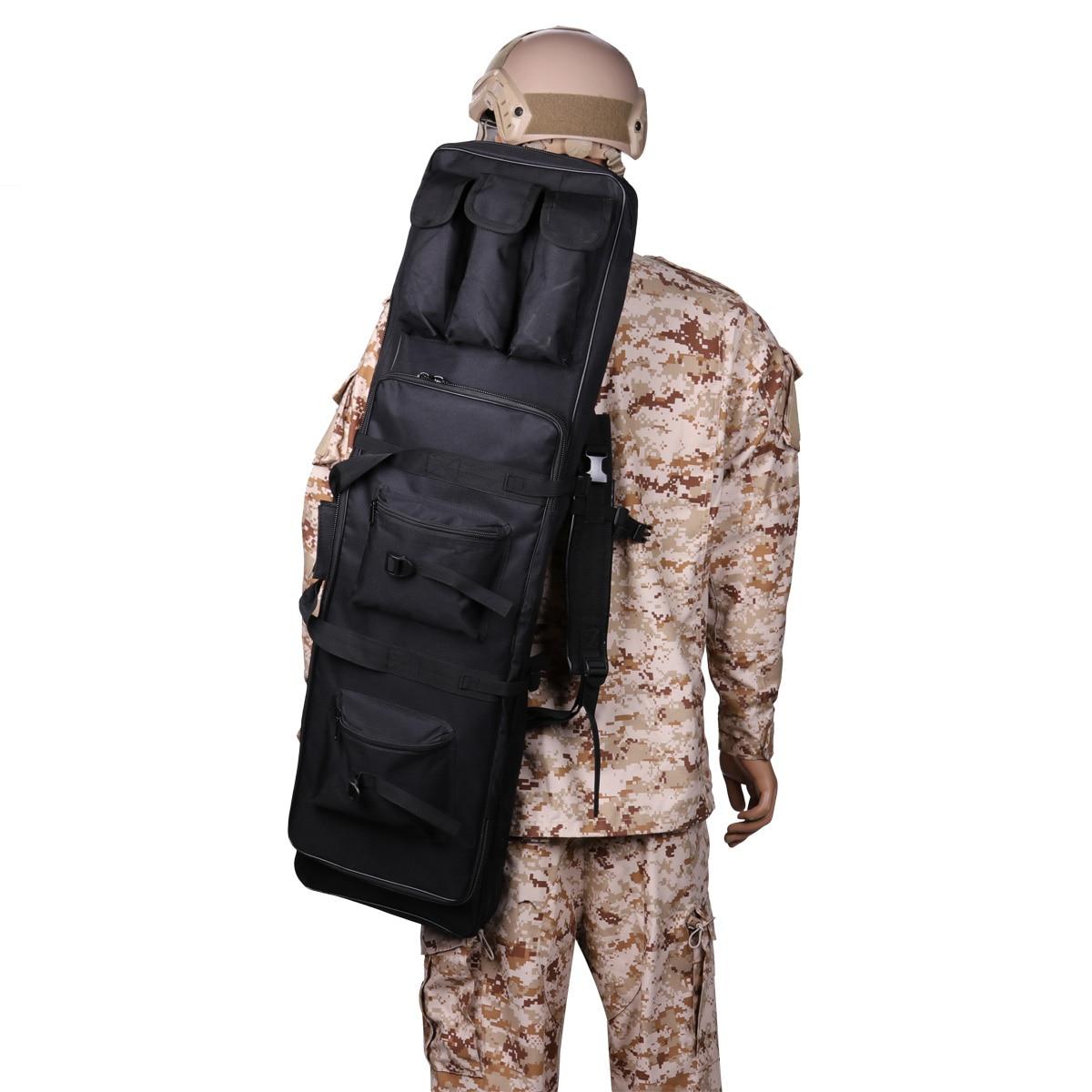 Tactique double fusil à Air comprimé sac sac à dos militaire Paintball couverture épaule pochette CS Wargame Airsoft fusil de chasse sac de transport 1.2 m