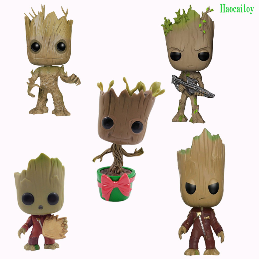 Haocaitoy Groot Anime Figures Flowerpot pop208# 201# Galaxy 65# 212# Action Figure Toys 10cm image