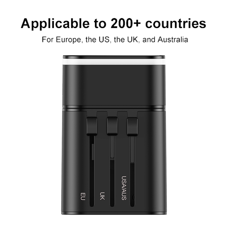 Baseus Quick Charge 3.0 International Travel USB Charger Power Adapter PD QC3.0 Fast Charging Wall Plug Socket For UK/EU/AU/US