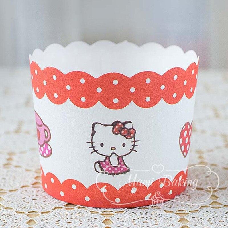 Cartoon Hello Kitty Cupcake Wrapper Cupcake Liners Muffin Papier - Keuken, eetkamer en bar