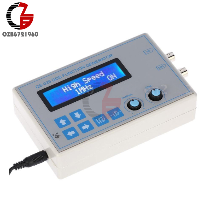 DC 9V 1602 LCD Display Digital DDS Function Signal Generator Module Sine + Triangle + Square Wave + USB Cable (1HZ-65534HZ) favourite 1602 1f