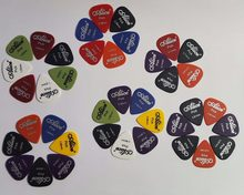 Alice Halus ABS Gitar Picks Plectrum, gauge 0.58 Mm/0.71 Mm/0.81 Mm/0.96 Mm/1.20 Mm/1.50 MM(China)