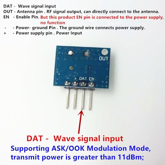 1 ensemble RF module 433 Mhz superhétérodyne récepteur et transmetteur kit avec antenne pour Arduino uno bricolage kits 433 mhz télécommande 2