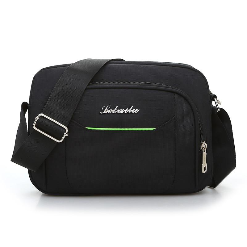 Black Business Messenger Bag Contracted Joker Unisex Crossbody Bag More Zippers Large Capacity Flap Bag Preppy Style Leisure Bag 1