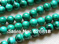 Free shipping natural 8mm green malachite beads stone for jewelry making