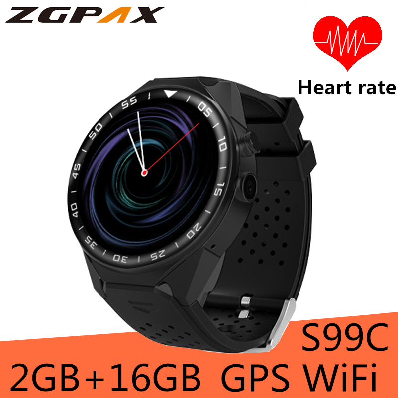 99C Smart Watch Android 5.1 MTK6580 Quad Core 1.3GHz 2GB RAM 16GB ROM Smartwatch Support 3G GPS WIFI Google Play for android IOS oil free air compressor high pressure gas pump spray woodworking air compressor small pump 550w9l
