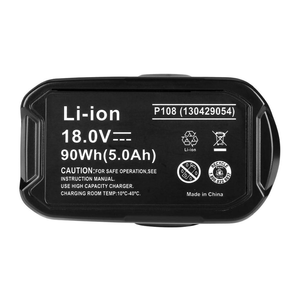 ZNTER 18 V 6000 mAh Li-Ion batterie outil électrique batterie pour Ryobi P108 RB18L40 batterie Rechargeable batterie outil électrique Ryobi ONE + - 2