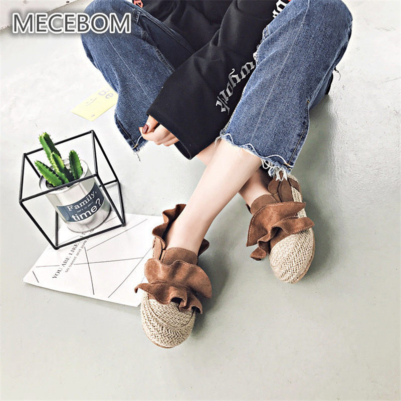 New spring fashion Women's loafers Ruffles edge slip-on shoes lady flats women shoes sapato feminino size35-39 88w hot 2017 new fashion womens weave shoes spring summer mixed color breathable casual shoes flats slip on loafers tenis feminino