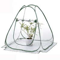 Foldable PVC Pop up Greenhouse Cover with Army Green Frame for Indoor Outdoor Plant Warm Room Garden Greenhouse Green House