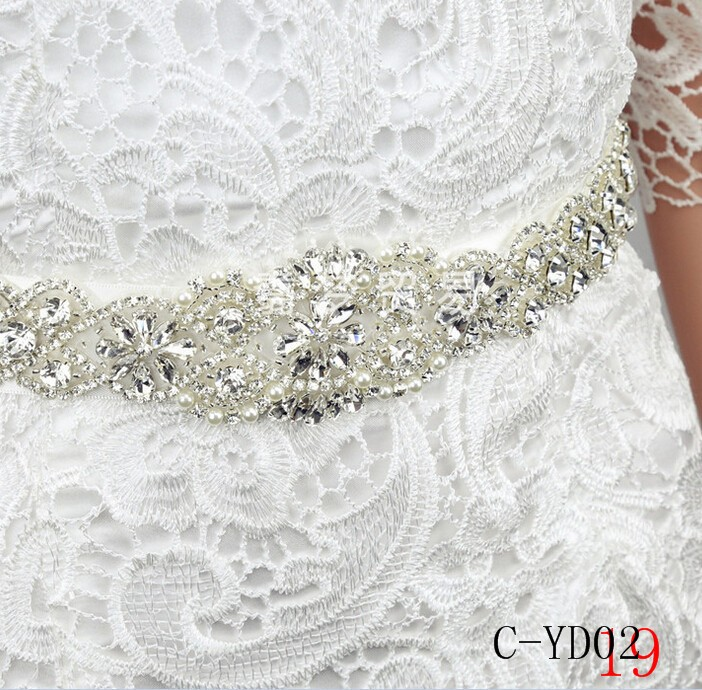 Women Luxurious Floral New Crystal Rhinestone Wedding Bridal Sash Belt Prom Sash Wedding Sash Belt 270cm3cm (3)