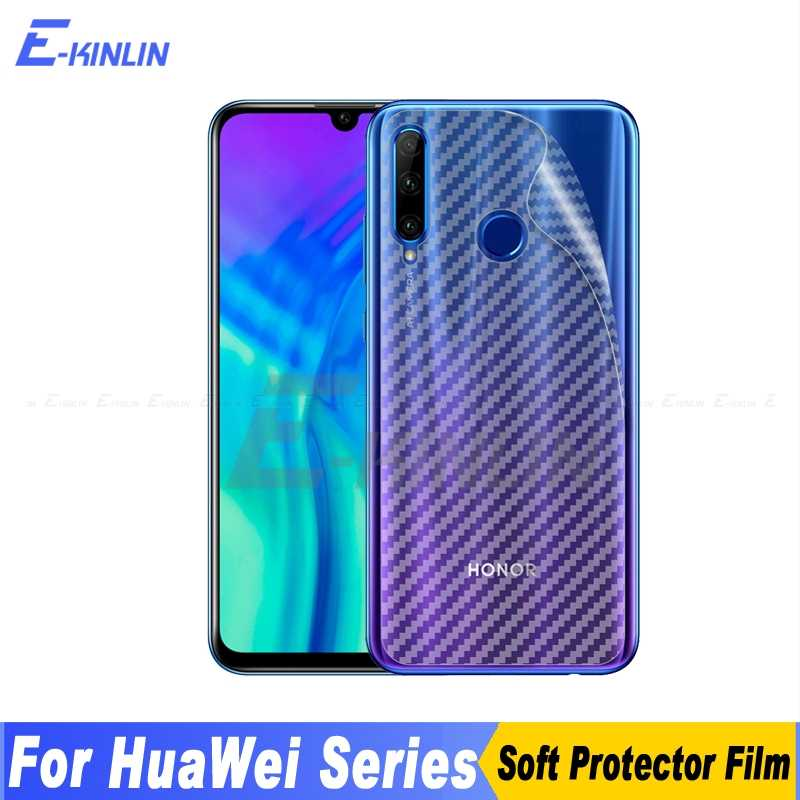 3D Carbon Fiber Back Cover Screen Protector Film For HuaWei Honor Note 10i 20i 20S View 20 10 Pro Lite V9 Play Not Glass