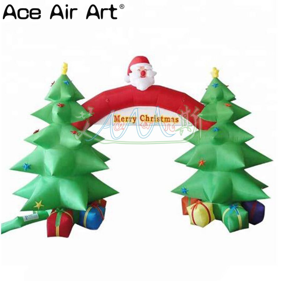 Newly inflatable christmas tree arch/ attractive inflatable ...