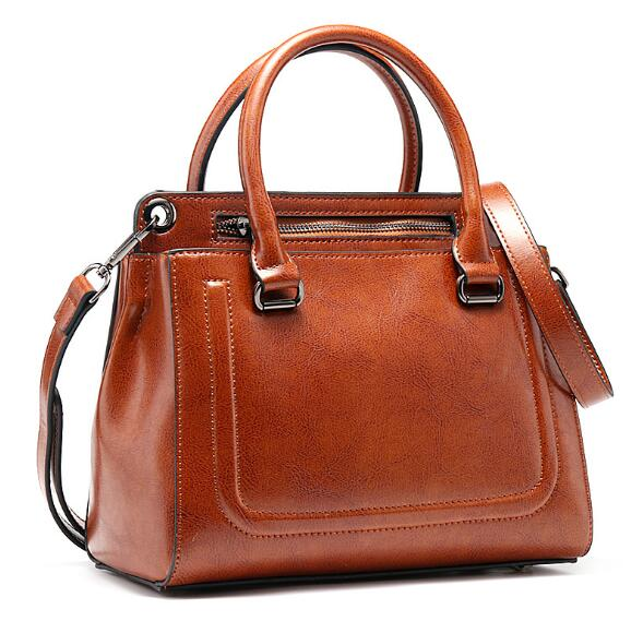Real Leather Ladies HandBags Women Genuine Leather Bags Totes Messenger Bags Hign Quality Designer Luxury Brand Bag donghong real cow leather ladies hand bags women genuine leather handbag shoulder bag hign quality designer luxury brand bag