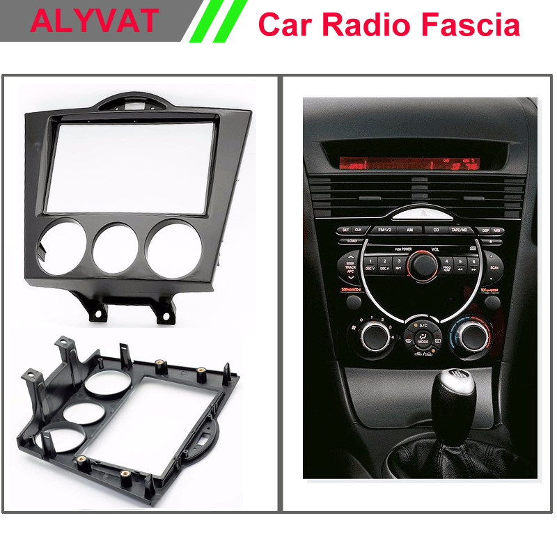 Car radio fascia frame Facia face dash install fitting trim kit for MAZDA RX 8 2003-2008 ( Manual Air-Conditioning) 2 DIN 2 din car fascia panel audio panel frame dash frame kit for volkswagen crafter 2008 2009 2010 2011 2012 2013 free shipping