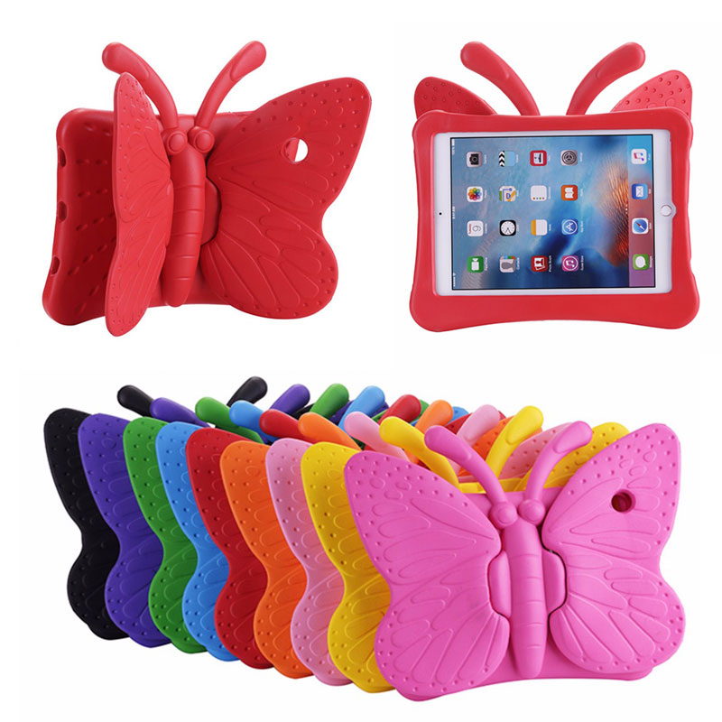 For ipad mini 1 2 3 Butterfly Kids EVA ShockProof Stand Case,Kids Safe Case Tablet Cover with Handle case for ipad mini 1 2 3 4