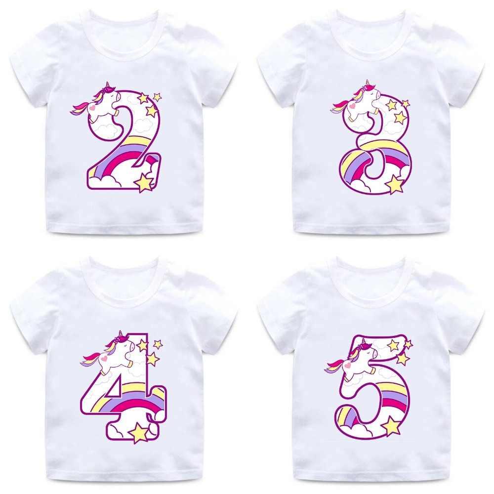 Camiseta Con Dibujo De Lazo Numero 1 9 De Unicornio De Feliz