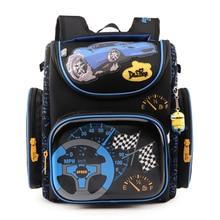 Neue Jungen Schultaschen Rucksack Blau Auto Gelb Flugzeug kinder Kinder Primäre 1-5 Grad Schulranzen Orthopädische Wasserdicht