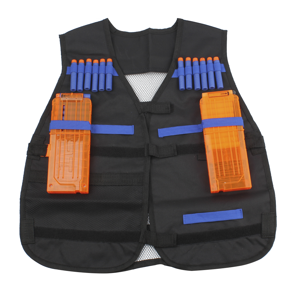 Soft Bullet Modified Exterior Tactical Carrier Darts Storage Waistcoat For Nerf Wargame Body Molle Armor Camouflage Outdoor Fun & Sports Toy Guns