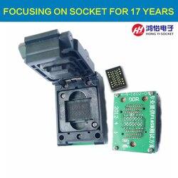 LGA52 DIP48 Pogo pin IC gniazdo testowe z płytą Flash programista Adapter nagrywaj w gnieździe Cleamshell struktury Adapter LGA52 gniazdo w Złącza od Lampy i oświetlenie na
