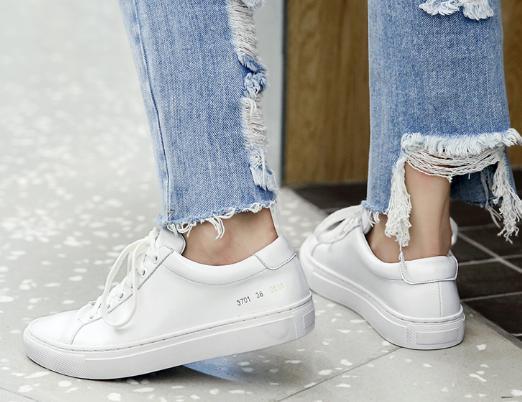 Baimier Peu Bout Dentelle 2018 Up Blanc Rond Profonde Printemps Appartements Femmes Sneakers 74pw67