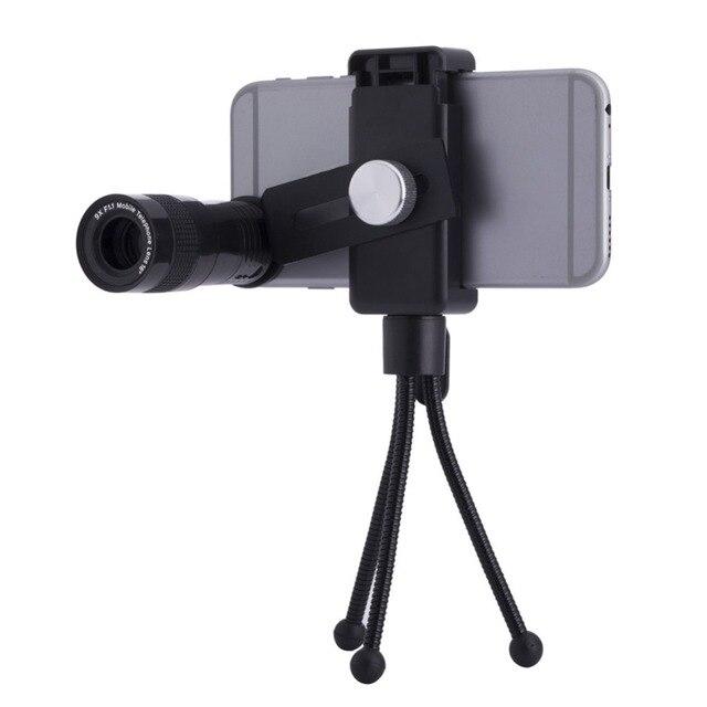 9 vezes lente telefoto + lente de 180 graus fisheye len + 0.67x lente grande angular + lente macro 10x universal 4 em 1 lente da câmera para o iphone smartphone