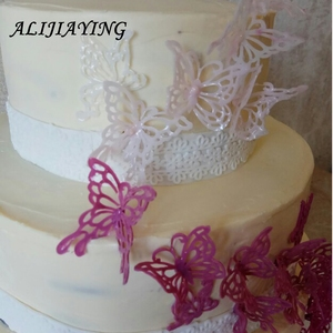 Image 5 - Hollow butterfly Flower Lace Mold Cake border Decoration tools Fondant Cake 3D Mold Food Grade Silicone mat Mould D0360