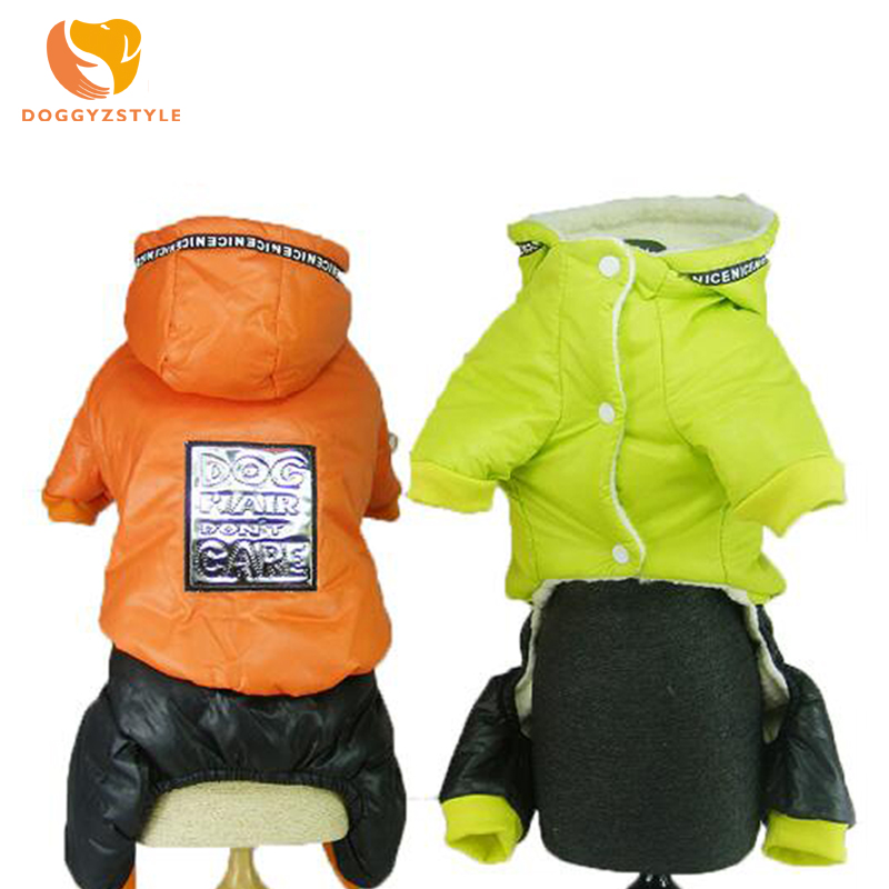 Casual Dog Jumpsuit Winter Warm Hoodies Pet Coat Puppy Cat Clothes Costumes Pets Apparel For Small Medium Dogs S-2XL DOGGYZSTYLE
