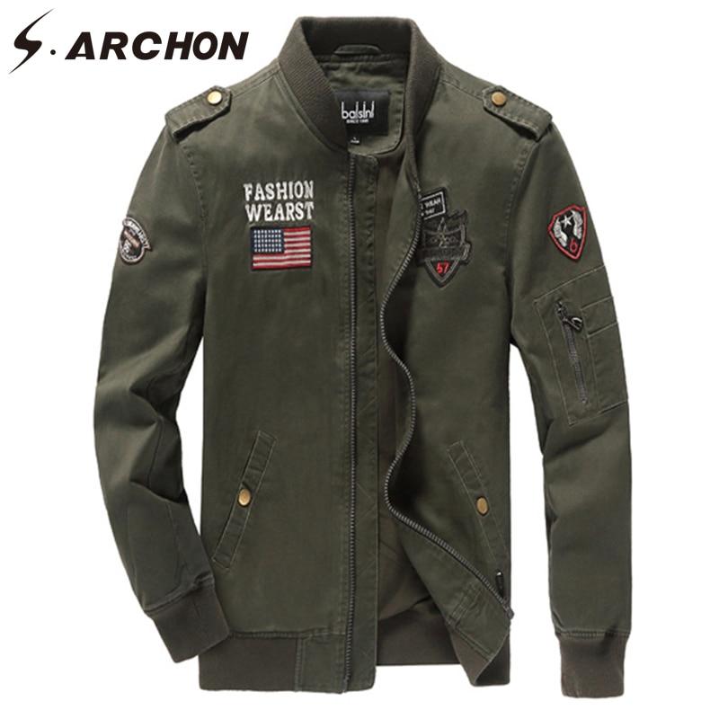 Tactique Style Coupe Force army SArchon Vol Green Hommes Militaire Automne Air Veste Vestes Black khaki Coton Pilote Hiver Casual Manteau vent LGUVjqSMzp