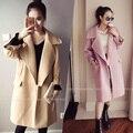 4xl плюс большой размер пальто женщины весна осень зима 2017 feminina новый розовый симпатичные сладкий ткань пальто женский A2693