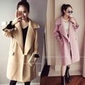 4xl além disso big size casacos mulheres primavera outono inverno 2017 feminina novo rosa doce bonito pano trench coat feminino A2693