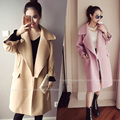 4xl plus big size coats women spring autumn winter 2017 feminina new pink cute sweet cloth trench coat female A2693