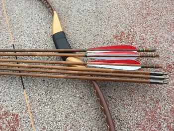 Wooden Bow And Arrow Set | Archery  Recurve Bow Traditional Wooden Longbow For  Outdoor Hunting Target Shooting Games+6 Arrows