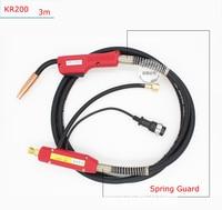 MIG,MAG CO2 Gas welding Gun 3M Cables KR 200A Panasonic Connection Welding Machine torch ,Welder Accessories