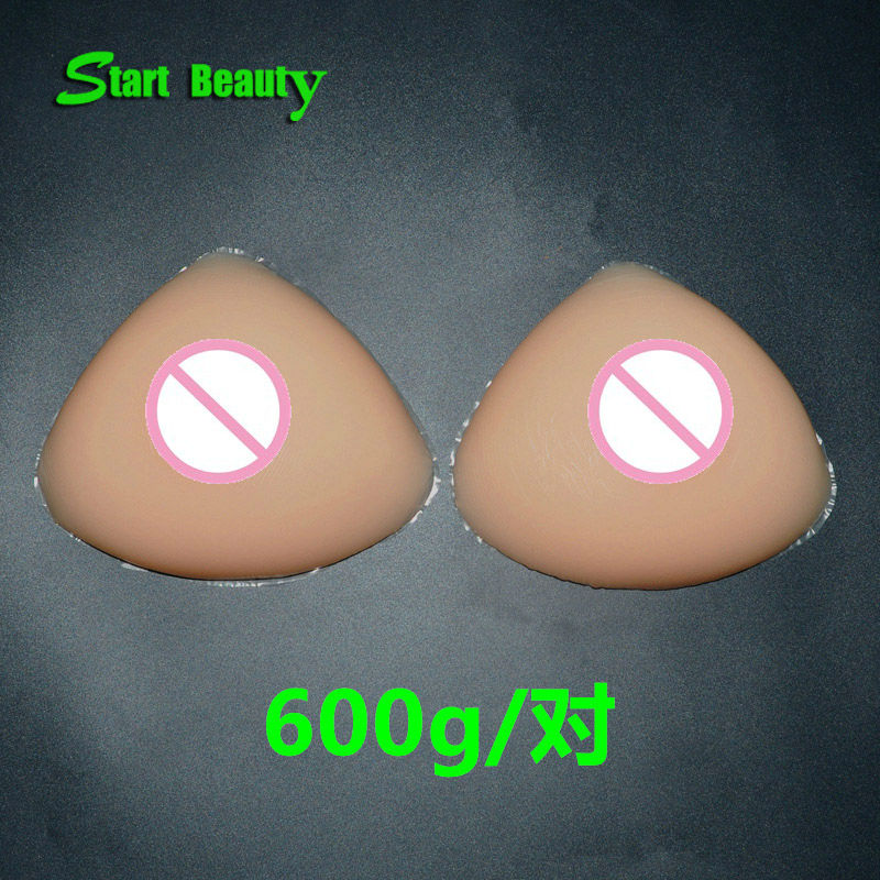 ФОТО 600g/pair C Cup Artificial Silicone breast form Bra Pad Enhancer Boobs Pads Swimwear pad Fake faux seins vagina transgender