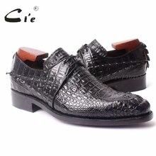 CIE, настоящая кожа, размеры 6-10; обувь без шнуровки на плоской, квадратный носок, со шнуровкой, из крокодиловой кожи новые фирменные мужские туфли Goodyear обувь черного цвета нет. b